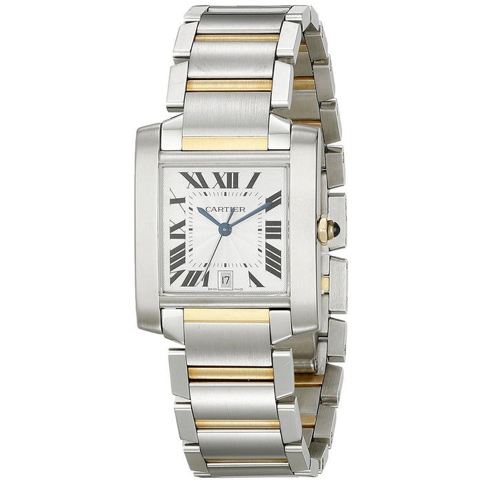 Cartier Men's W51005Q4 Tank Francaise 18kt Yellow Gold Automatic Two-Tone Stainless Steel Watch