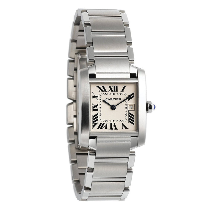 Cartier Unisex W51011Q3 Tank Francaise Stainless Steel Watch