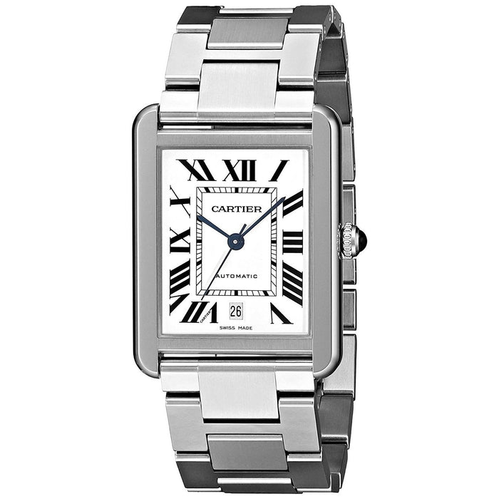 Cartier Men's W5200028 Tank Solo Automatic Stainless Steel Watch