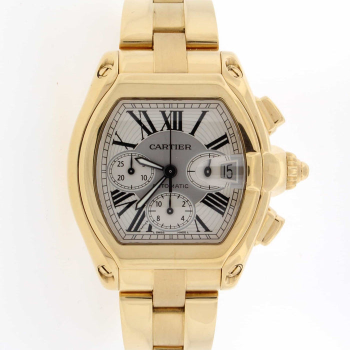 Cartier Men's W62021Y2 Roadster Chronograph Gold-Tone Stainless Steel Watch