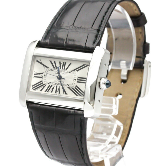 Cartier Men's W6300755 Tank Black Leather Watch