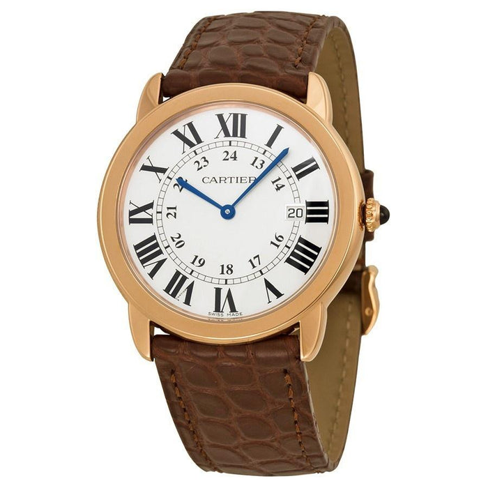 Cartier Unisex W6701008 Ronde Solo Brown Leather Watch