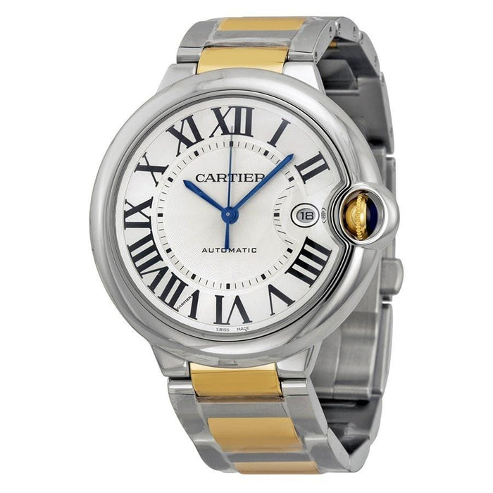 Cartier Men's W69009Z3 Ballon Bleu 18 Kt Yellow Gold Automatic Two-Tone Stainless Steel Watch