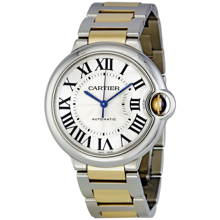 Cartier Men's W6920047 Ballon Bleu 18kt Yellow Gold Automatic Two-Tone Stainless Steel Watch