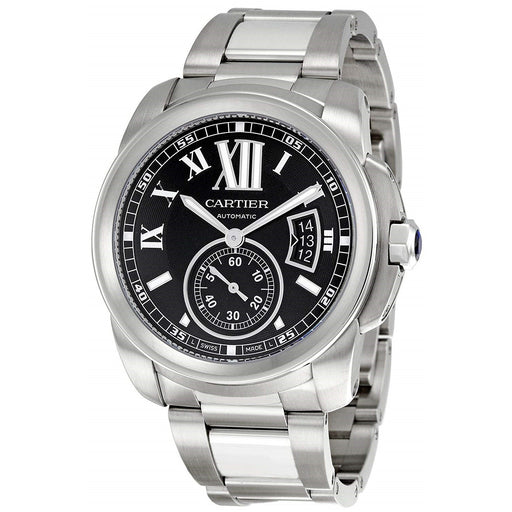 Cartier Men's W7100016 Calibre De Cartier Hand Wind Stainless Steel Watch