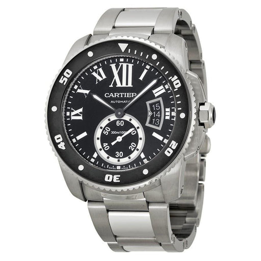 Cartier Men's W7100057 Calibre Automatic Stainless Steel Watch