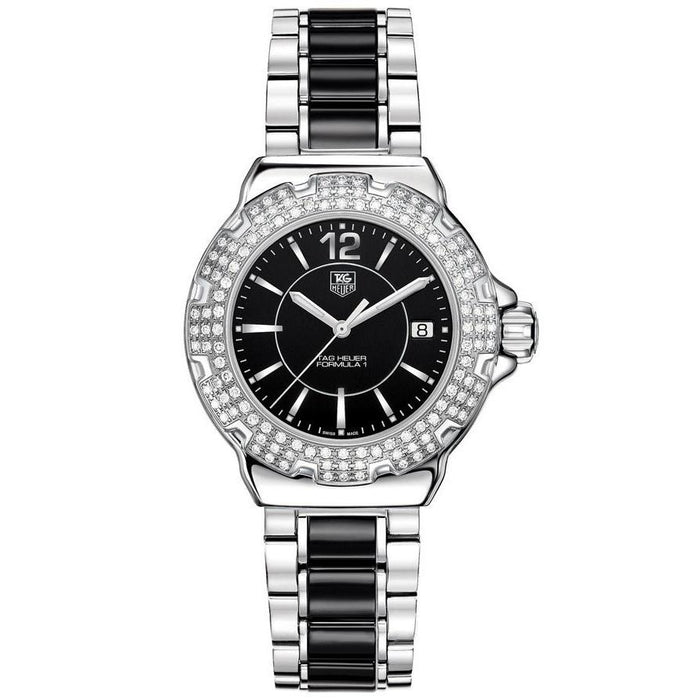 Tag Heuer Women's WAC1214.BA0859 Formula 1 Diamond Two Tone Stainless Steel and Ceramic Watch