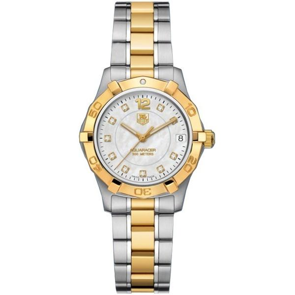 Tag Heuer Women's WAF1320.BB0820 Aquaracer 18kt yellow gold Diamond Two-Tone Stainless Steel Watch