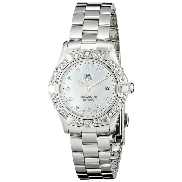 Tag Heuer Women's WAF1416.BA0824 Aquaracer Diamond Stainless Steel Watch