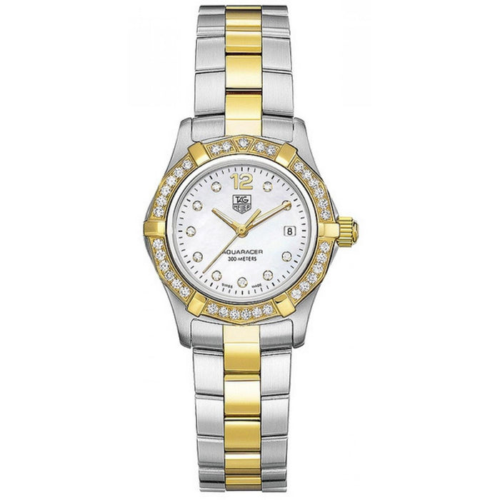 Tag Heuer Women's WAF1450.BB0825 Aquaracer 18kt yellow gold diamond Two-Tone Stainless Steel Watch