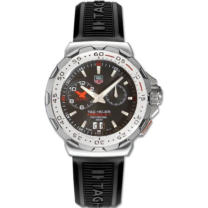 Tag Heuer Men's WAH111C.FT6024 Formula 1 Alarm Black Rubber Watch