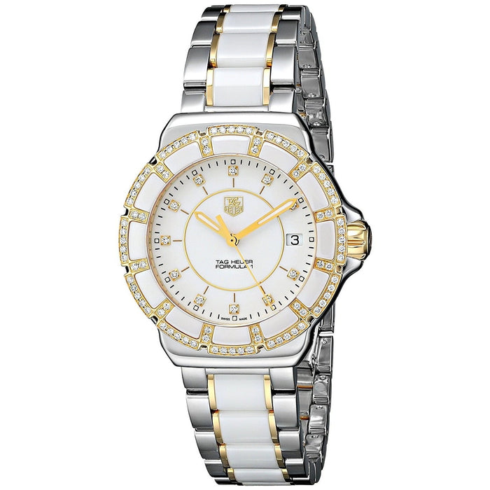 Tag Heuer Women's WAH1221.BB0865 Formula 1 Diamond Two-Tone Stainless Steel and Ceramic Watch