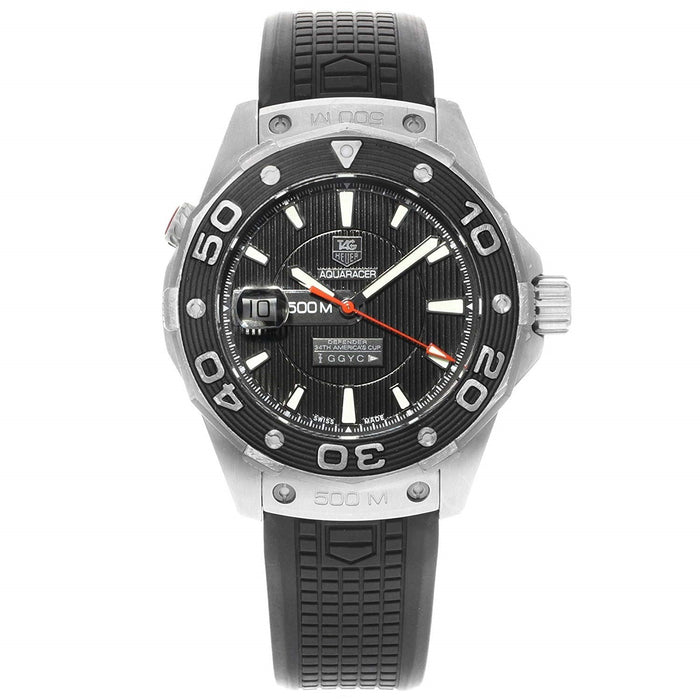 Tag Heuer Men's WAJ2119.FT6015 Aquaracer Black Rubber Watch