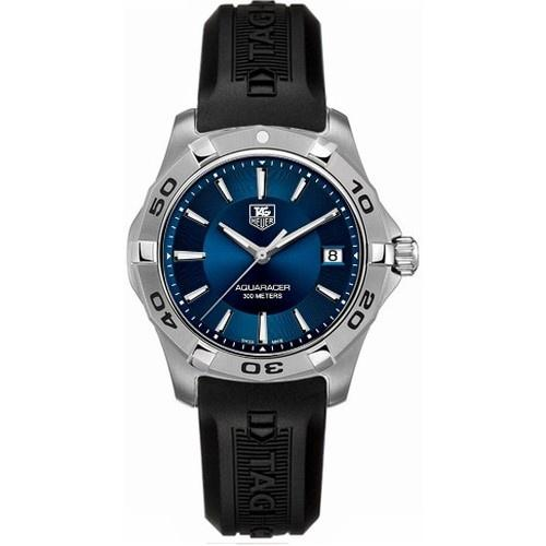 Tag Heuer Men's WAP1112.FT6029 Aquaracer Blue Rubber Watch