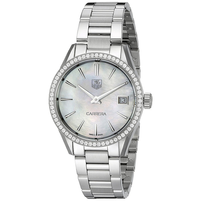 Tag Heuer Women's WAR1315.BA0778 Carrera Diamond Stainless Steel Watch