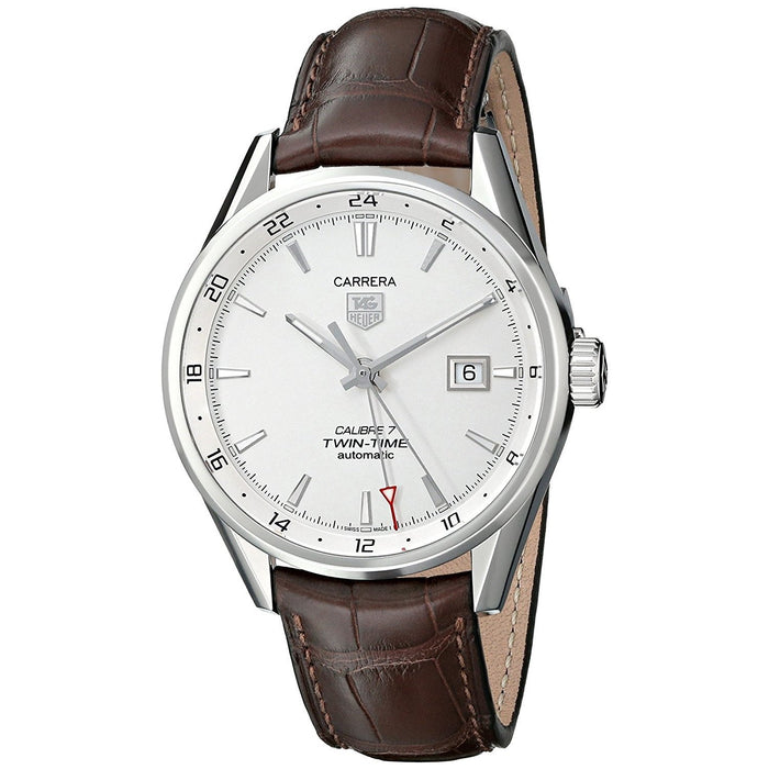 Tag Heuer Men's WAR2011.FC6291 Carrera Automatic Brown Leather Watch