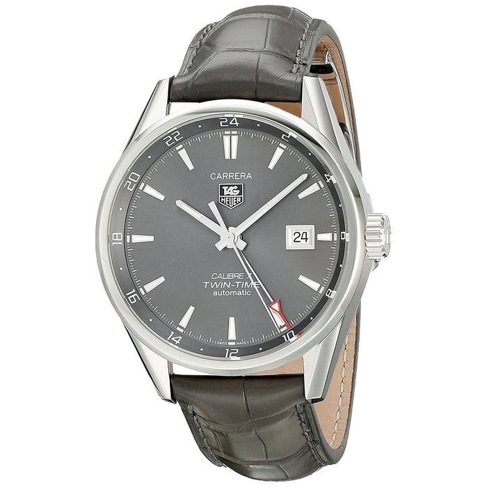 Tag Heuer Men's WAR2012.FC6326 Carrera Automatic Grey Leather Watch