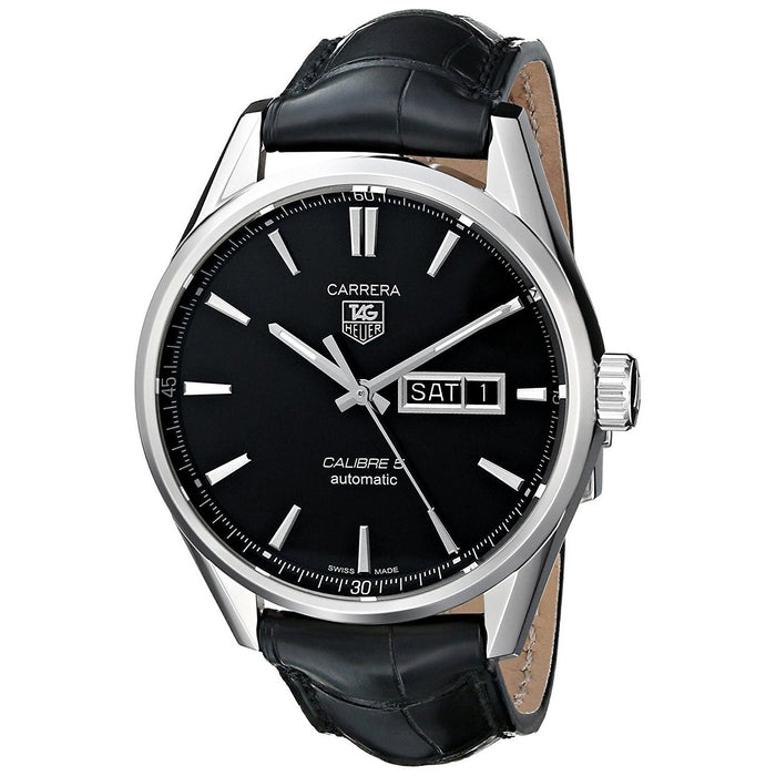 Tag Heuer Men's WAR201A.FC6266 Carrera Automatic Black Leather Watch