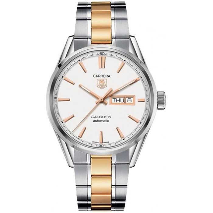 Tag Heuer Men's WAR201D.BD0789 Carrera 18kt Rose Gold Automatic Two-Tone Stainless Steel Watch