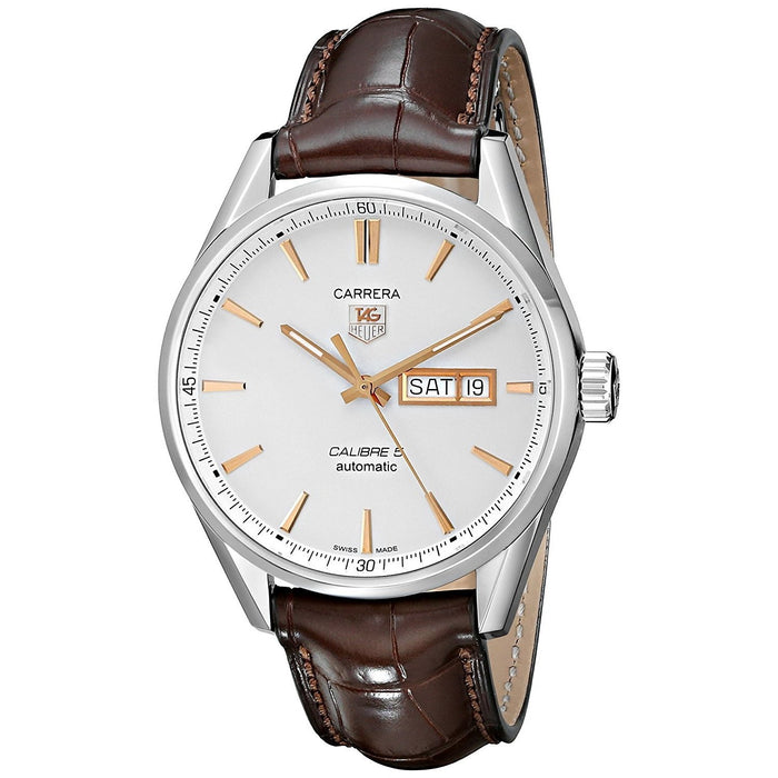 Tag Heuer Men's WAR201D.FC6291 Carrera Brown Leather Watch