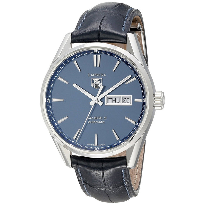 Tag Heuer Men's WAR201E.FC6292 Carrera Automatic Blue Leather Watch