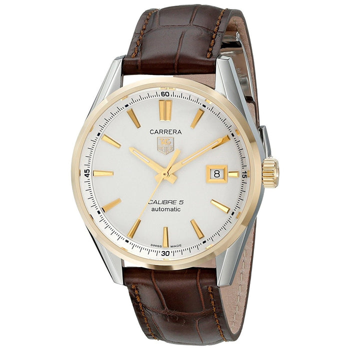 Tag Heuer Men's WAR215B.FC6181 Carrera 18kt yellow gold Automatic Brown Alligator Leather Watch
