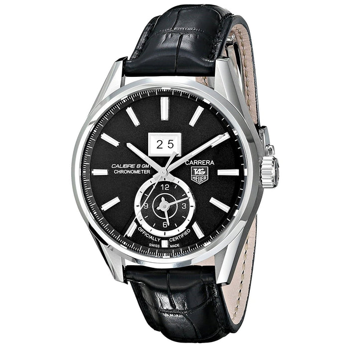 Tag Heuer Men's WAR5010.FC6266 Carrera GMT Chronometer Automatic Black Leather Watch