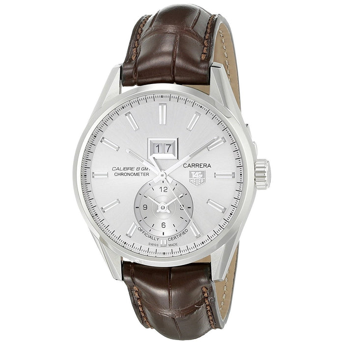 Tag Heuer Men's WAR5011.FC6291 Carrera GMT Chronometer Automatic Brown Leather Watch