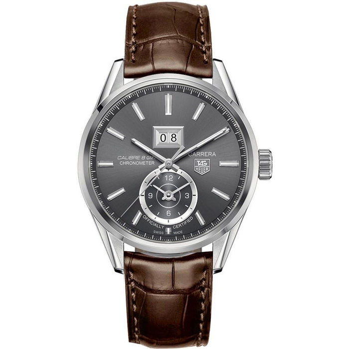 Tag Heuer Men's WAR5012.FC6291 Carrera GMT Automatic Brown Leather Watch