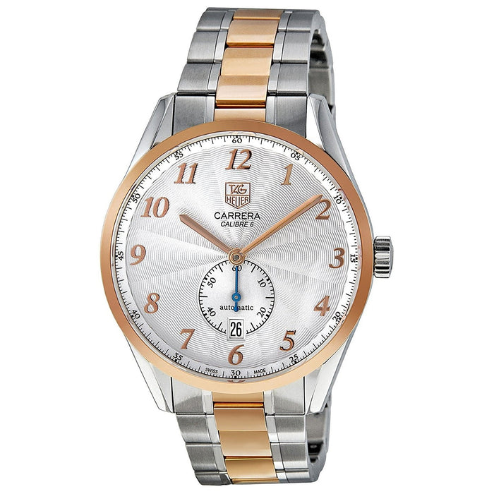 Tag Heuer Men's WAS2151.BD0734 Carrera 18kt Rose Gold Automatic Two-Tone Stainless Steel Watch