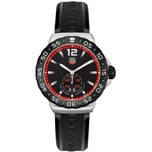 Tag Heuer Men's WAU1114.FT6024 Formula 1 Black Rubber Watch