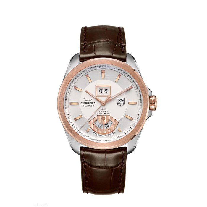 Tag Heuer Men's WAV5152.FC6231 Grand Carrera 18kt Rose Gold Automatic Brown Leather Watch