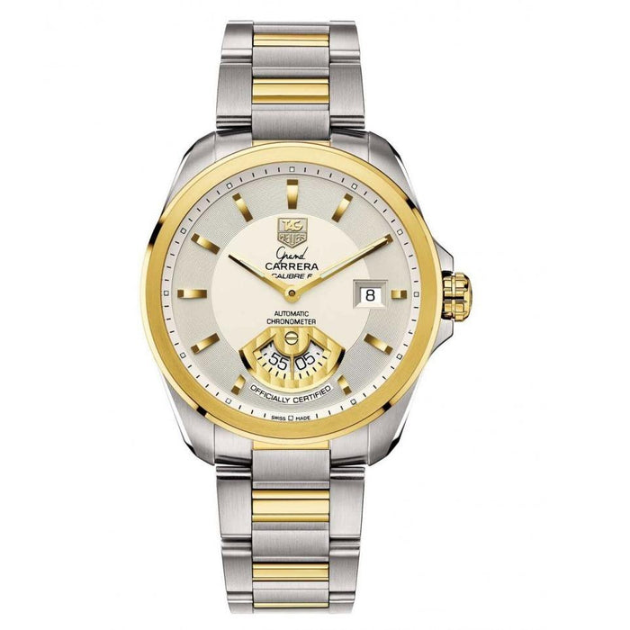 00aef3bad5b7 Tag Heuer Men s WAV515B.BD0903 Grand Carrera 18kt Yellow Gold Automatic  Two-Tone Stainless