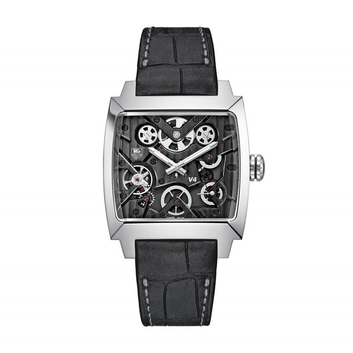 Tag Heuer Men's WAW2080.FC6288 Monaco Limited Edition Automatic Anthracite Alligator leather Watch