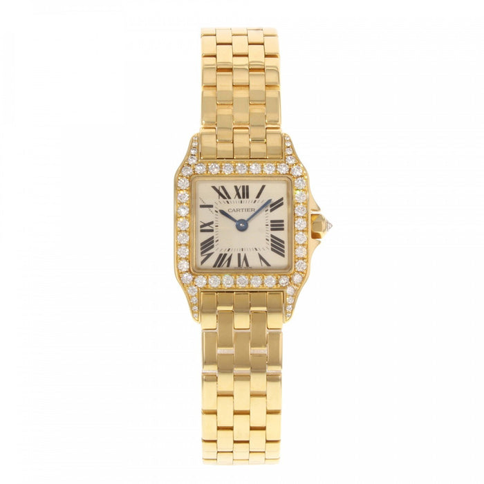 Cartier Women's WF9001Y7 Santos Gold-Tone Stainless Steel Watch