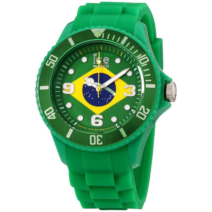 Ice Watch Unisex WO.BR.B.S.12 Ice-World Green Silicone Watch