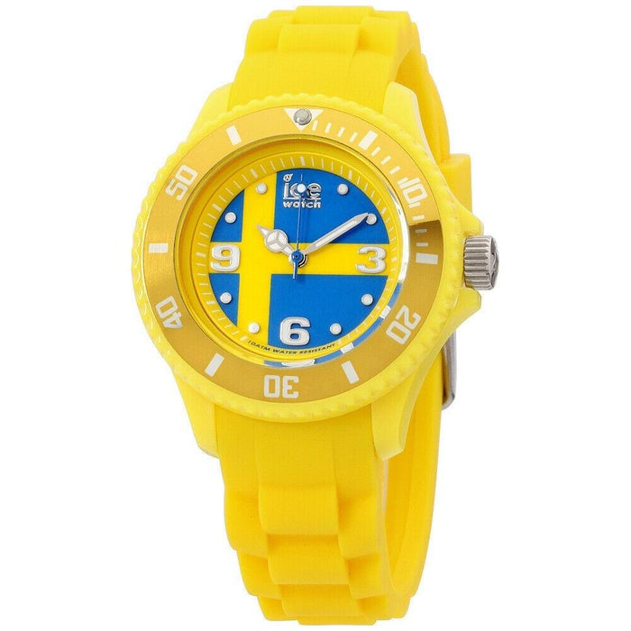 Ice Watch Unisex WO.SE.S.S.12 Ice-World Yellow Silicone Watch