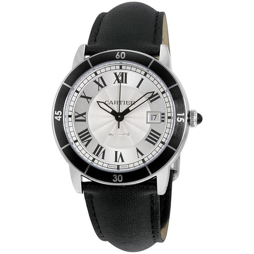 Cartier Men's WSRN0002 Ronde Croisiere Automatic Black Leather Watch