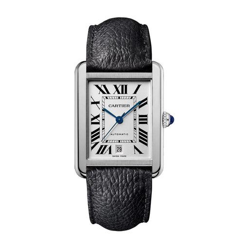 Cartier Men's WSTA0029 Tank Black Leather Watch