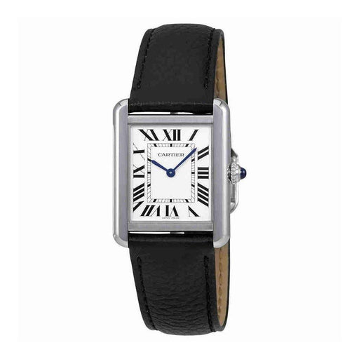 Cartier Women's WSTA0030 Tank Black Leather Watch
