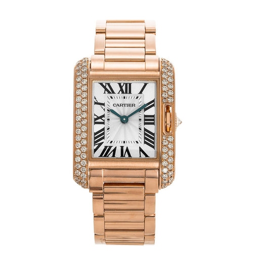 Cartier Women's WT100002 Tank Rose Gold-Tone Stainless Steel Watch