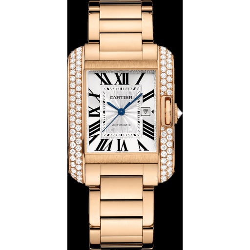 Cartier Unisex WT100003 Tank Rose Gold-Tone Stainless Steel Watch