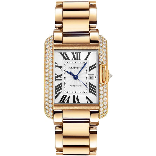 Cartier Men's WT100004 Tank Rose Gold-Tone Stainless Steel Watch