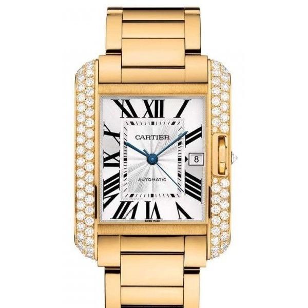 Cartier Men's WT100007 Tank Gold-Tone Stainless Steel Watch
