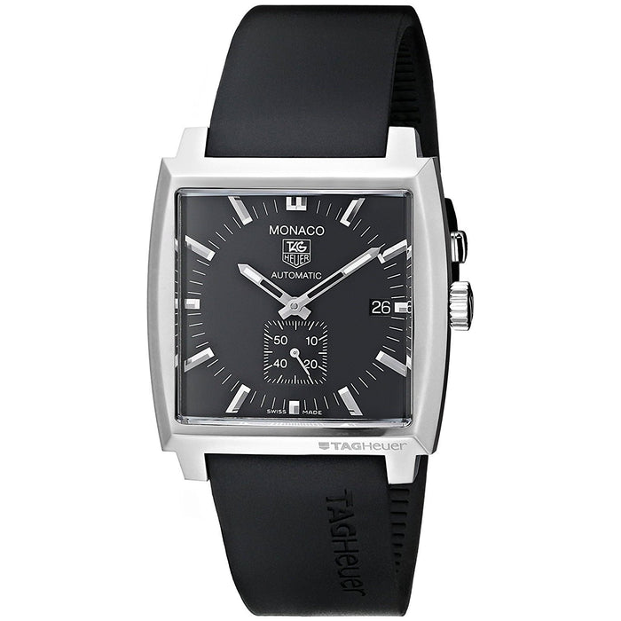 Tag Heuer Men's WW2110.FT6005 Monaco Automatic Black Rubber Watch