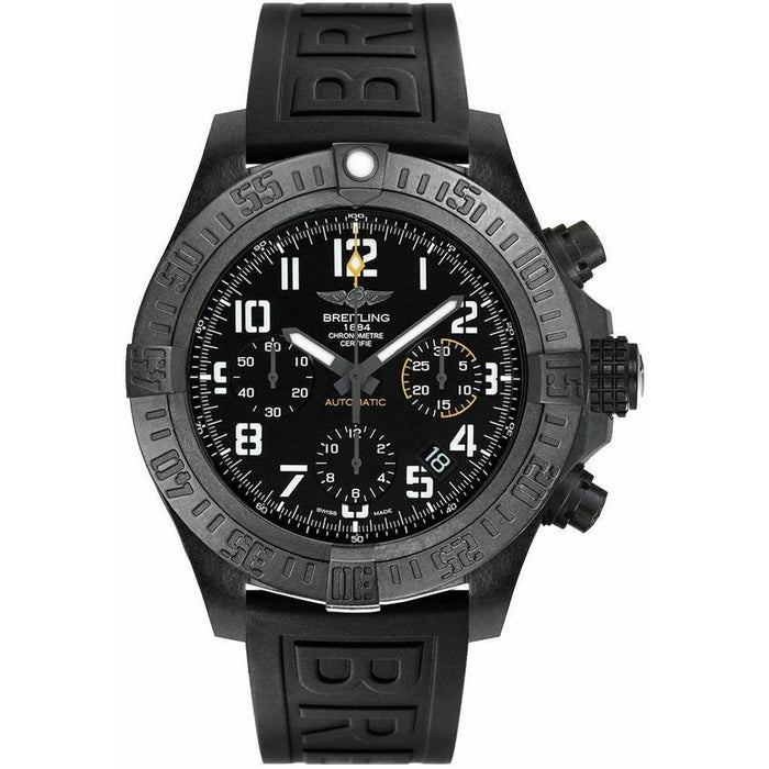 Breitling Men's XB0180E4-BF31-153S Avenger Hurricane Chronograph Black Rubber Watch
