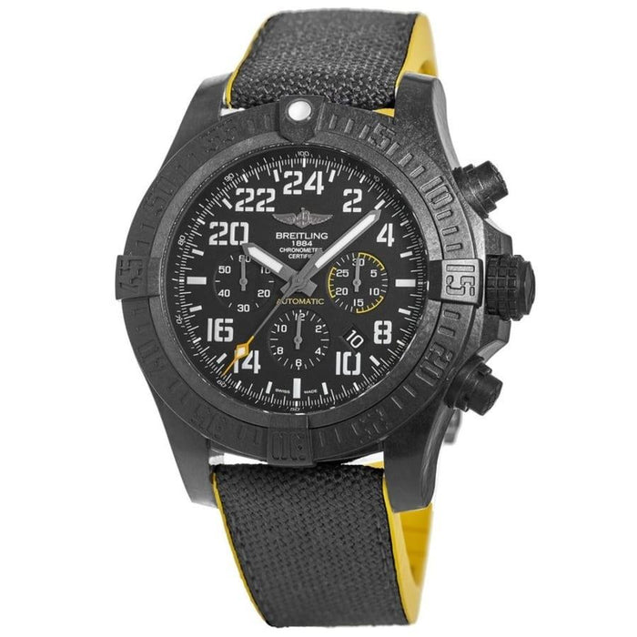 Breitling Men's XB1210E4-BE89-257S Avenger Hurricane Chronograph Black Rubber Watch
