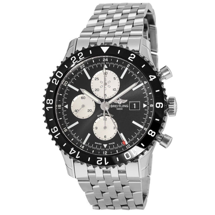 Breitling Men's Y2431012-BE10-453A Chronoliner Chronograph Stainless Steel Watch