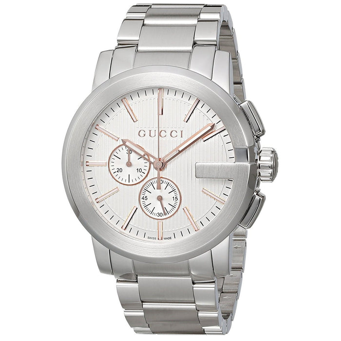 d1470f446ef Gucci Men s YA101201 G-Chrono Chronograph Stainless Steel Watch — Bezali