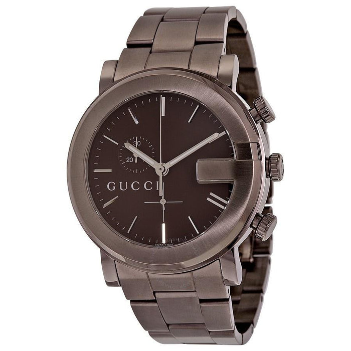 Gucci Men's YA101341 G-Chrono Chronograph Brown Stainless Steel Watch